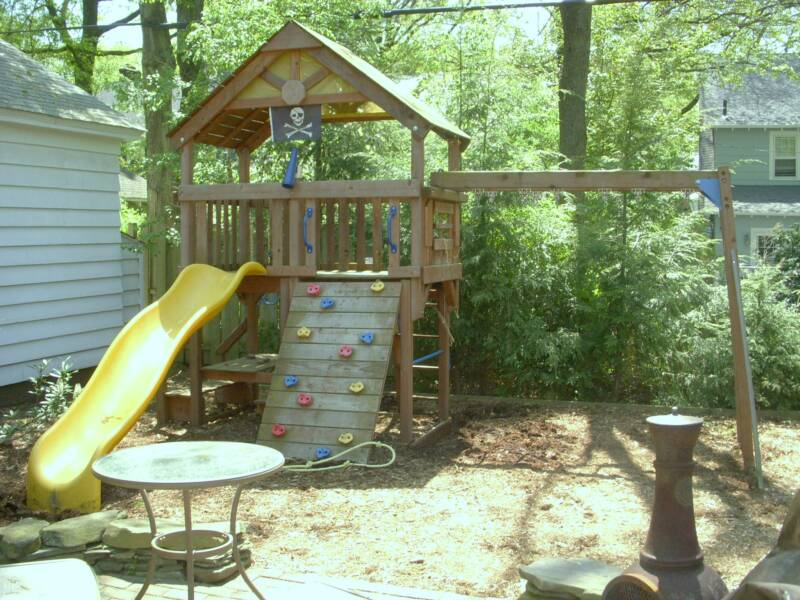 Playground Sets For Backyards Costco Part - 20: I Assembled This Swing Set In 2007( 2007 Costco Sunray Made By Rainbow) . I  Came Back Recently To Do Minor Check Up And Re-stain Service.