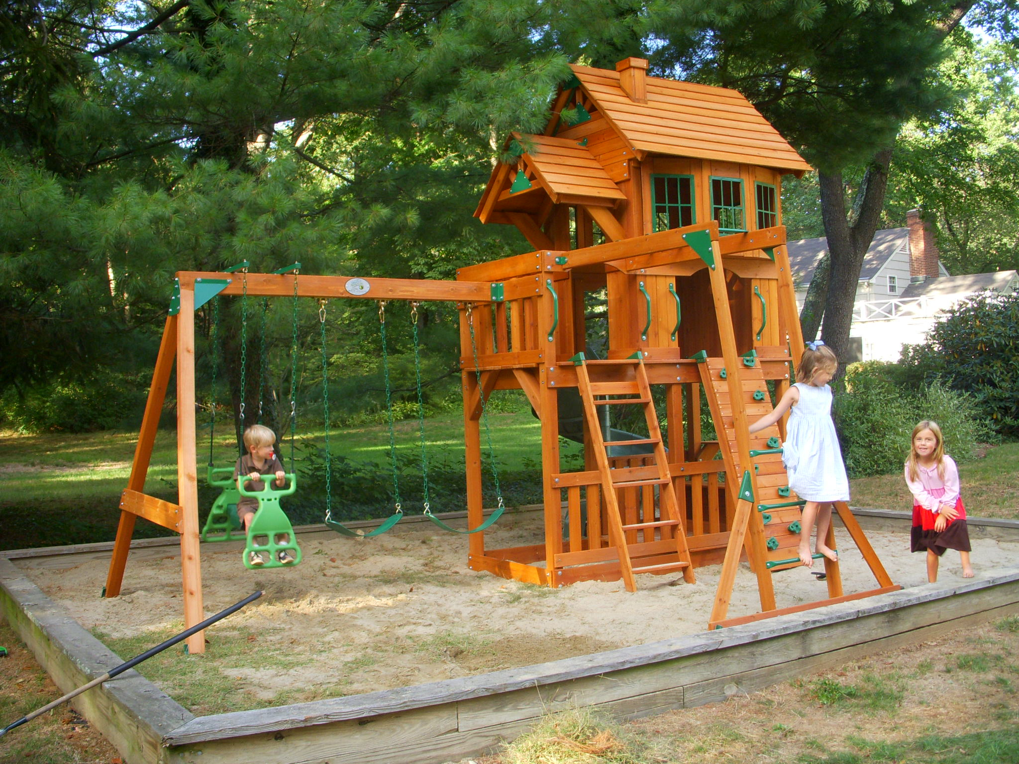 accessories playsets wwe funfull swing exterior costco swingsets wooden kits sets outdoor lifetime children playground with set gorilla activities